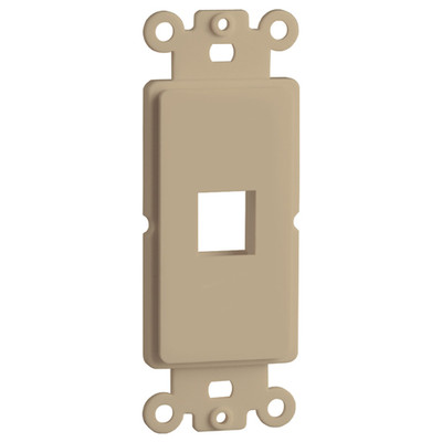DataComm Keystone Decorator Strap, 1-Port, Ivory