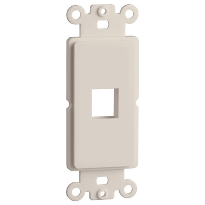 DataComm Keystone Decorator Strap, 1-Port, Light Almond