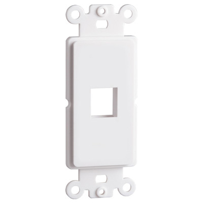 DataComm Keystone Decorator Strap, 1-Port, White