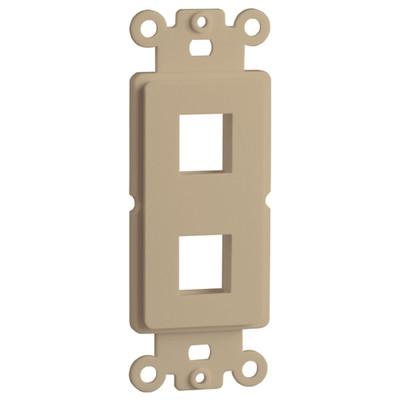 DataComm Keystone Decorator Strap, 2-Port, Ivory