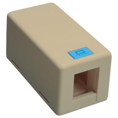 DataComm Keystone Surface-Mount Box, 1-Port, Ivory