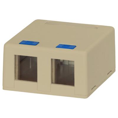 DataComm Keystone Surface-Mount Box, 2-Port, Ivory