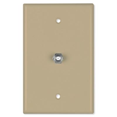 Datacomm Coax Wall Plate, Ivory
