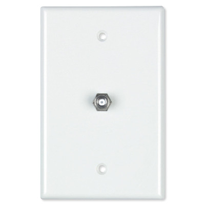 Datacomm Coax Wall Plate, White