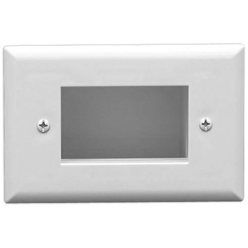 DataComm Easy Mount Recessed Cable Access Wallplate, White