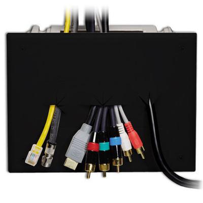 DataComm Recessed Media Box, Black