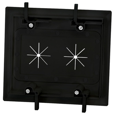 DataComm Cable Access Wallplate with Flexible Opening, 2-Gang, Black