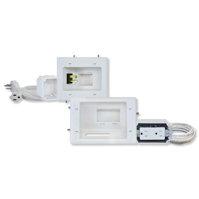 DataComm Flat Panel TV Cable Organizer Kit with Duplex Receptacle