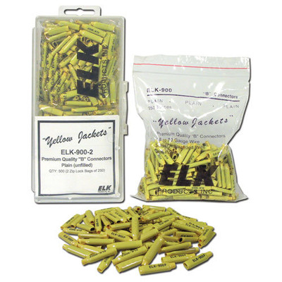 Elk B-Connectors, Unfilled, Yellow (500 Pack)