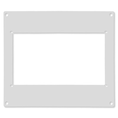 Ecovent Adapter for Ceiling and Wall, White, 8x10