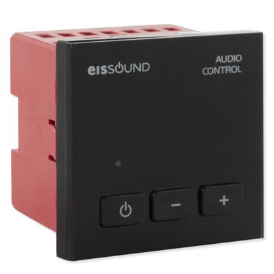 EISSOUND In-Wall Audio Control Unit, EU Design, Black