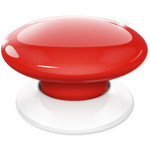 Fibaro The Button Z-Wave Scene Controller, Red