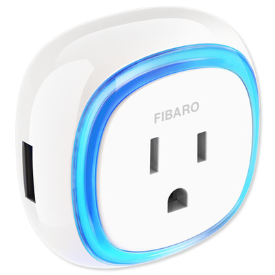 Fibaro Wall Plug Z Wave Plug In Outlet Home Controls