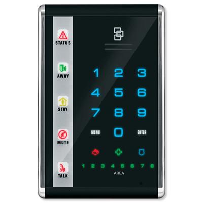Interlogix NetworX Advanced Touch LED Keypad, Portrait, Black