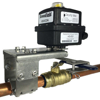Greenfield Z Wave Automatic Security Valve Clamp On Actuator