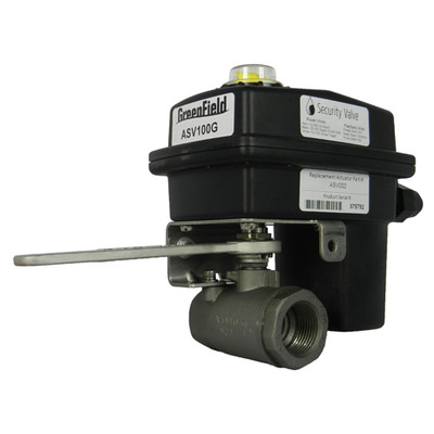Greenfield Automatic Security Valve Kit, Gas Rated, 1 In. Pipe
