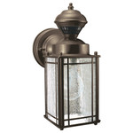 Heath-Zenith Motion-Activated DualBrite Mission Cove Coach Light, Silver
