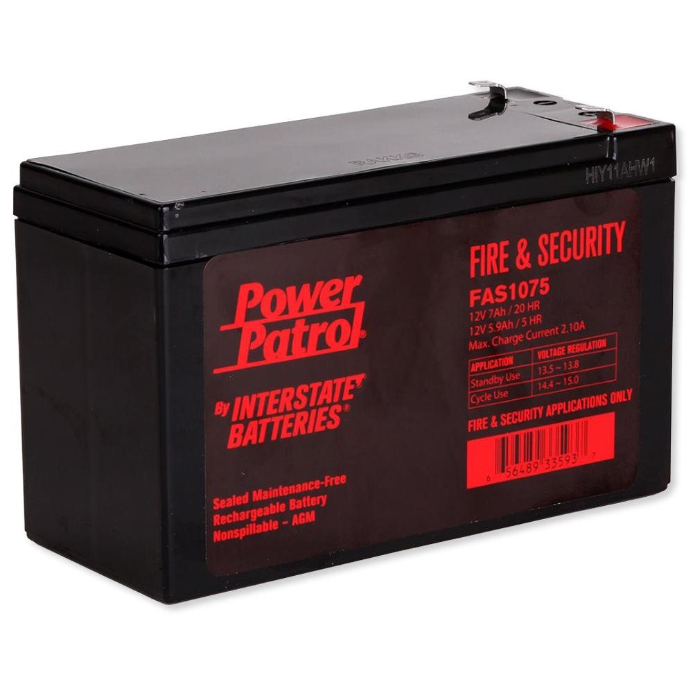 Interstate Batteries Power Patrol Lead Acid Battery, 12V 7Ah