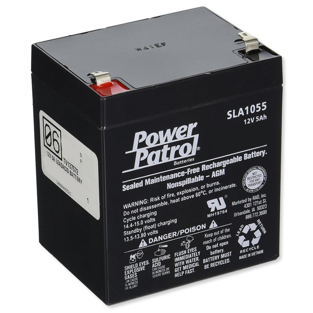 Interstate Batteries Power Patrol Lead Acid Battery, 12V 5Ah