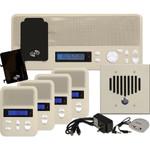 IST I2000 Music & Intercom Standard 4-Room Kit, Almond