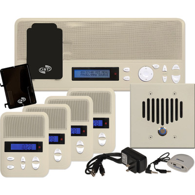IST I2000 Music & Intercom Standard 4-Room Kit, Almond