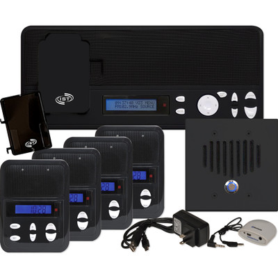 IST I2000 Music & Intercom Standard 4-Room Kit, Black