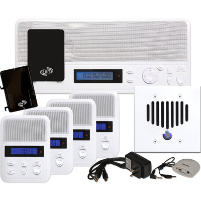 IST I2000 Music & Intercom Standard 4-Room Kit, White