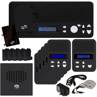 IST I2000 Music & Intercom Standard 5-Room Kit, Black