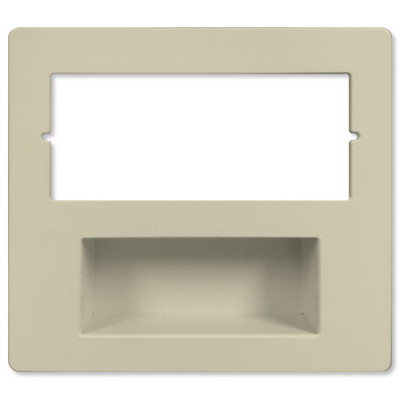 IST RETRO Music & Intercom Combination Trim Cover Plate, Almond