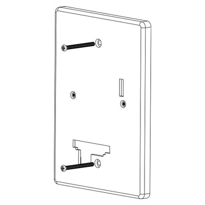 IST RETRO MyDoor Adapter Plate, White