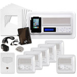 IST RETRO Music & Intercom System Package, 5 Rooms (Vertical Frames), Almond