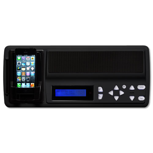 IST RETRO Music & Intercom Master Station, Black