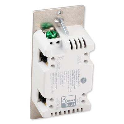 GE Enbrighten Z-Wave In-Wall Smart Switch With QuickFit And SimpleWire, White/Light Almond