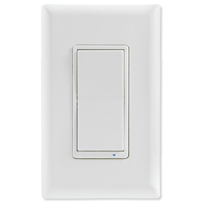 GE Enbrighten Zigbee In-Wall Smart Paddle Switch with QuickFit and SimpleWire, White/Almond