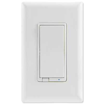 GE Enbrighten Zigbee In-Wall Smart Paddle Dimmer With QuickFit and SimpleWire, White/Almond
