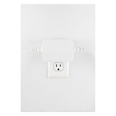 GE Enbrighten Zigbee Plug-In Smart Dimmer, Dual Controlled Outlets, White