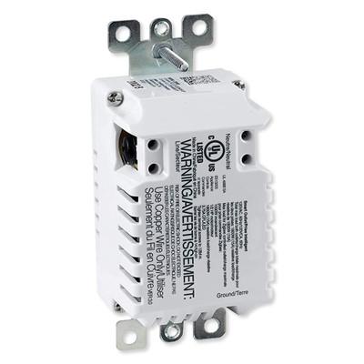 GE Enbrighten Zigbee In-Wall Tamper-Resistant Smart Outlet, White