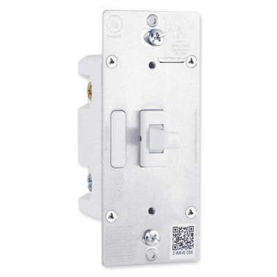 GE Enbrighten Z-Wave Plus Toggle In-Wall Smart Dimmer, White