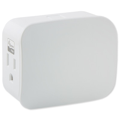 GE Enbrighten Z-Wave Plus Plug-in Smart Switch, Dual Outlet, White