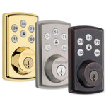 Kwikset SmartCode 888 Series Z-Wave Plus Deadbolt with Home Connect, Polished Brass