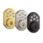 Kwikset SmartCode 910 Zigbee Traditional Style Deadbolt with Home Connect, Polished Brass