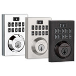Kwikset SmartCode 914 Z-Wave Plus Contemporary Style Touchpad Deadbolt with Home Connect, Venetian Bronze