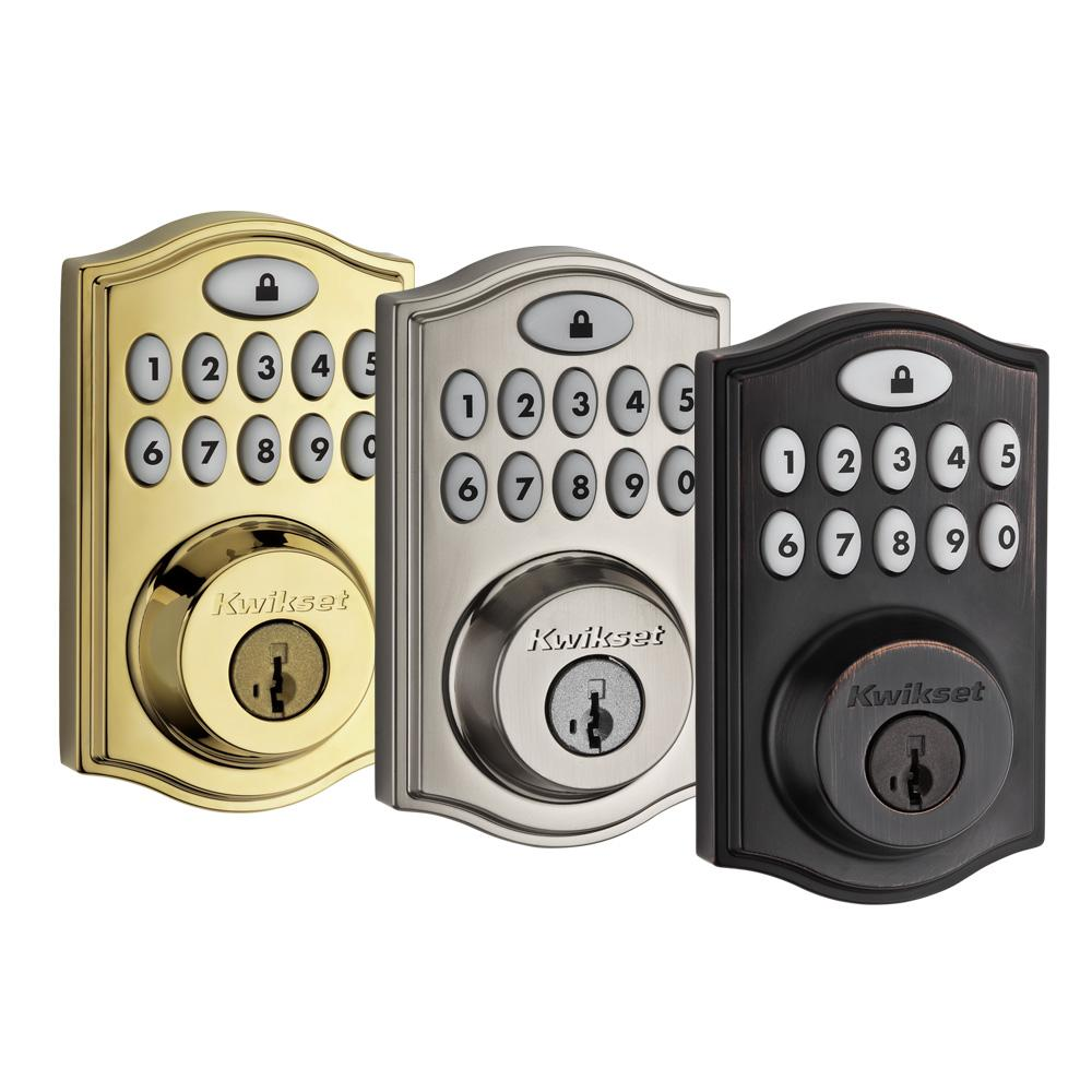 Kwikset SmartCode 914 Series Zigbee Deadbolt with Home Connect, Polished Brass