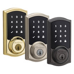 Kwikset SmartCode 916 Series Zigbee Touchscreen Deadbolt with Home Connect, Polished Brass