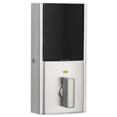 Kwikset SmartCode 916 Z-Wave Plus Contemporary Style Touchpad Deadbolt with Home Connect, Satin Nickel