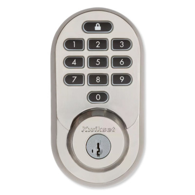 Kwikset Halo Keypad Wi-Fi Smart Lock, Satin Nickel