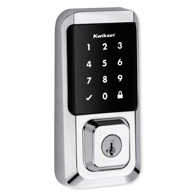 Kwikset Halo Touchscreen Wi-Fi Smart Lock, Polished Chrome