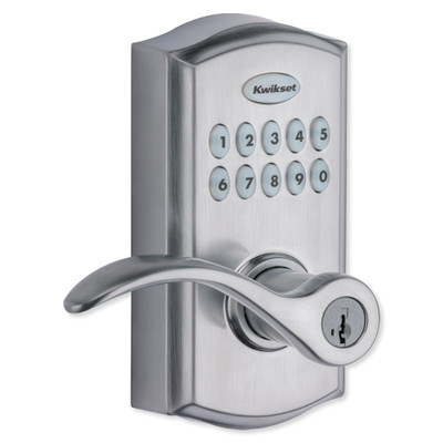 Kwikset SmartCode 955 Reversible Electronic Lever, Satin Chrome