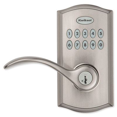 Kwikset SmartCode 955 Reversible Electronic Lever, Satin Nickel