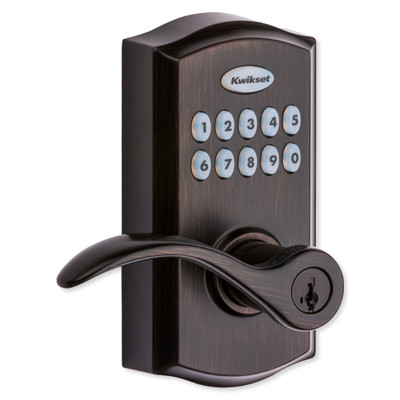 Kwikset SmartCode 955 Z-Wave Plus Smart Reversible Electronic Lever, Venetian Bronze